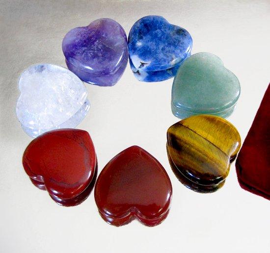 chakra set hearts